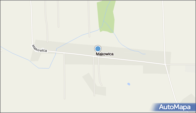 Makowica gmina Szelków, Makowica, mapa Makowica gmina Szelków