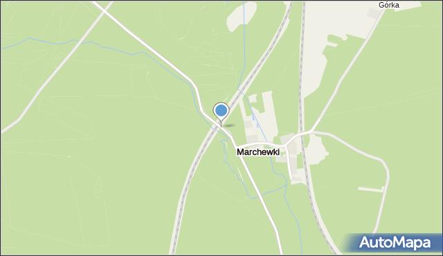 Marchewki gmina Siemkowice, Marchewki, mapa Marchewki gmina Siemkowice