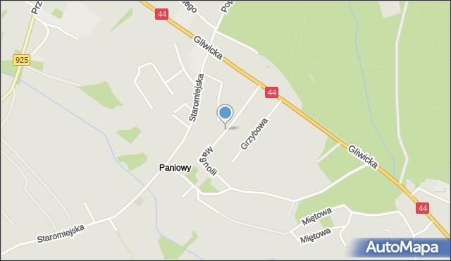 Mikołów, Magnolii, mapa Mikołów