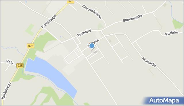 Mikołów, Mała, mapa Mikołów