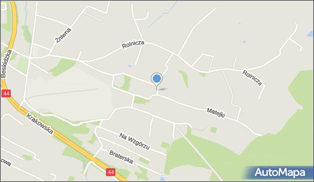 Mikołów, Matejki Jana, mapa Mikołów