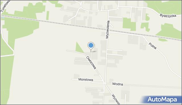 Mrozów, Malinowa, mapa Mrozów