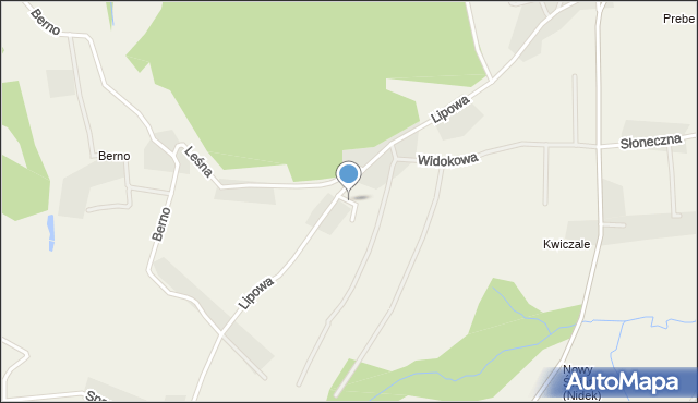 Nidek, Malinowa, mapa Nidek