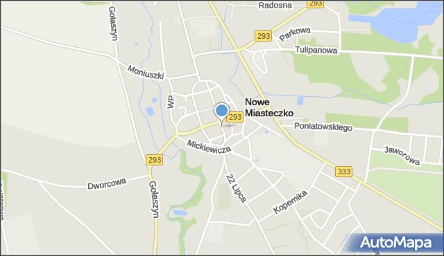 Nowe Miasteczko, Majowa, mapa Nowe Miasteczko