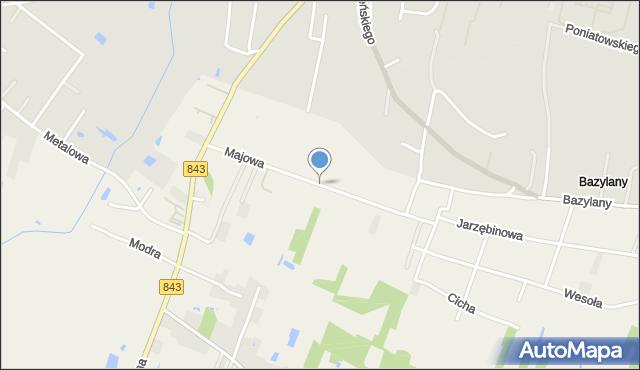Pokrówka, Majowa, mapa Pokrówka