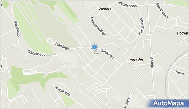 Przemyśl, Maczka Stanisława, gen., mapa Przemyśla