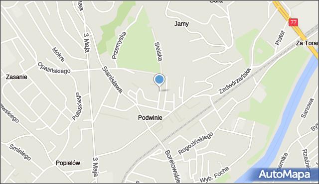 Przemyśl, Małachowskiego Stanisława, mapa Przemyśla