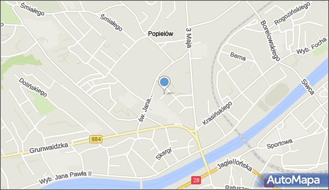 Przemyśl, Malczewskiego Jacka, mapa Przemyśla