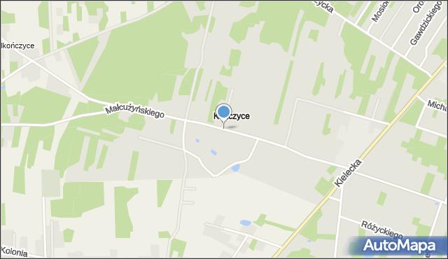 Radom, Małcużyńskiego Witolda, mapa Radomia