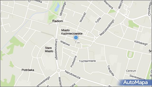 Radom, Mała, mapa Radomia
