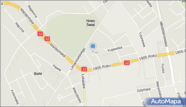 Radom, Mazurska, mapa Radomia