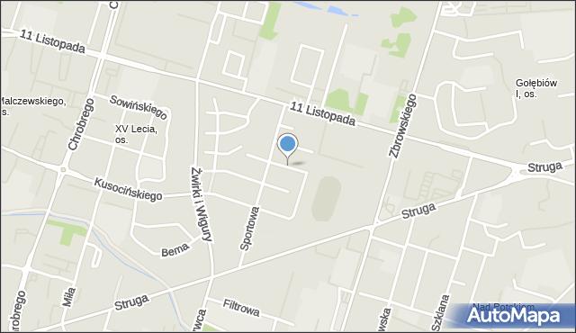 Radom, Marusarzówny Heleny, mapa Radomia
