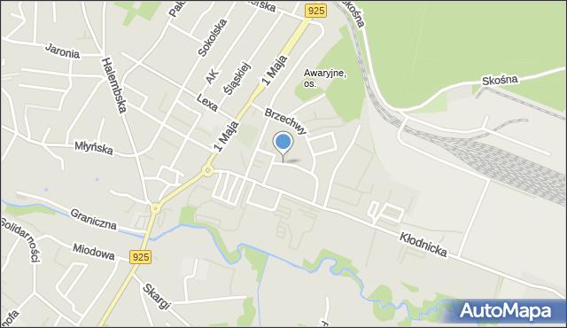 Ruda Śląska, Makuszyńskiego Kornela, mapa Rudy Śląskiej