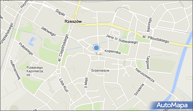Rzeszów, Matejki Jana, mapa Rzeszów