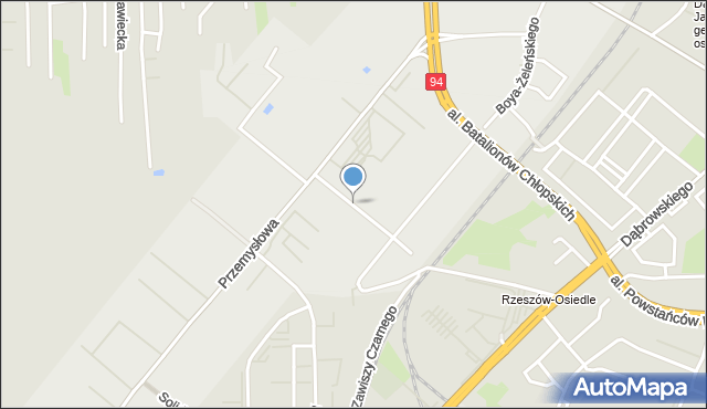 Rzeszów, Magazynowa, mapa Rzeszów