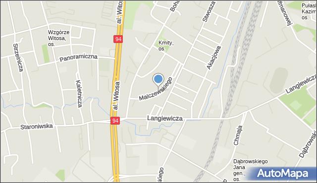 Rzeszów, Malczewskiego Jacka, mapa Rzeszów