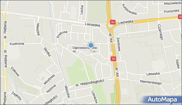 Rzeszów, Marusarzówny Heleny, mapa Rzeszów