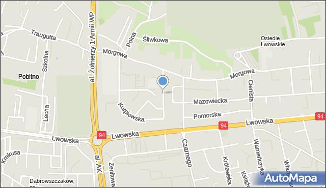 Rzeszów, Mazurska, mapa Rzeszów