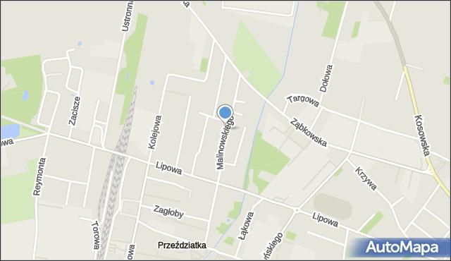 Sokołów Podlaski, Malinowskiego, mapa Sokołów Podlaski