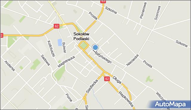 Sokołów Podlaski, Mały Rynek, mapa Sokołów Podlaski