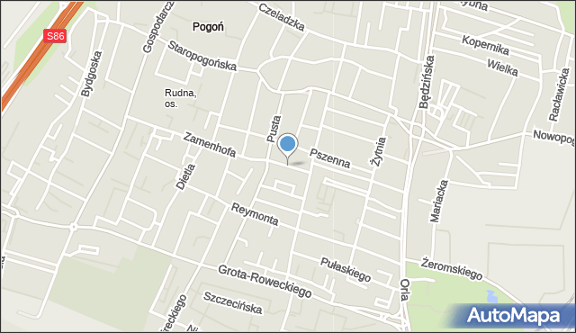Sosnowiec, Mazowiecka, mapa Sosnowca