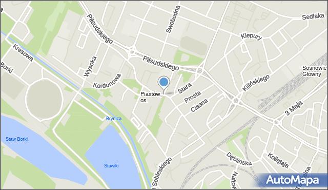 Sosnowiec, Matki Kierocińskiej Teresy, mapa Sosnowca