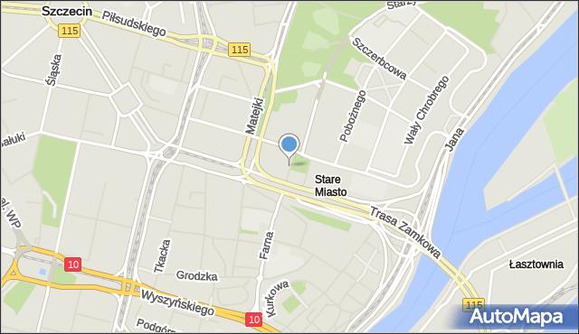 Szczecin, Mazowieckiego Tadeusza, mapa Szczecina