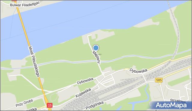 Toruń, Majdany, mapa Torunia