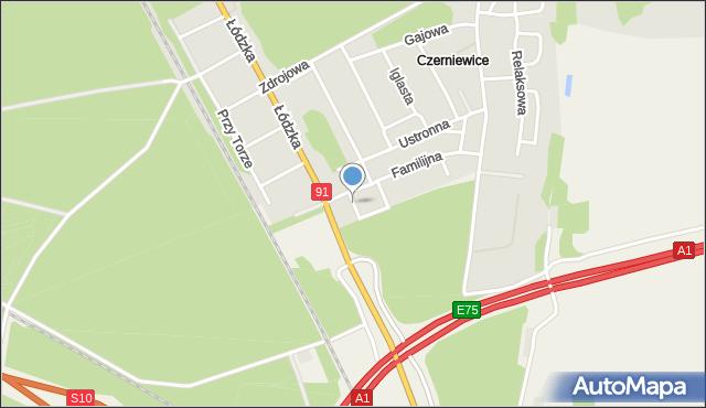 Toruń, Mała, mapa Torunia