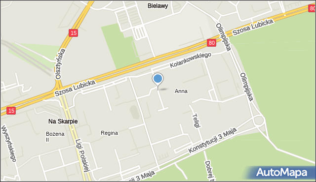 Toruń, Malinowskiego Bronisława, mapa Torunia
