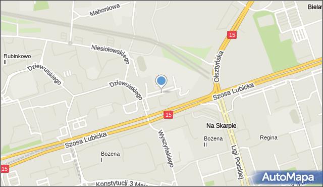 Toruń, Mańkowskiego Alfonsa, ks., mapa Torunia