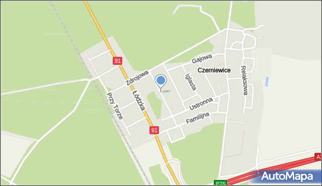 Toruń, Matysiaków, mapa Torunia