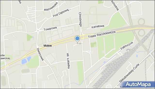 Toruń, Mazurska, mapa Torunia