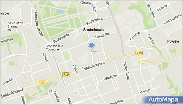 Warszawa, Mazowiecka, mapa Warszawy