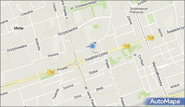 Warszawa, Mariańska, mapa Warszawy