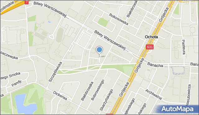 Warszawa, Mątwicka, mapa Warszawy