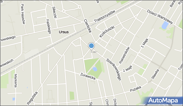 Warszawa, Malinowa, mapa Warszawy