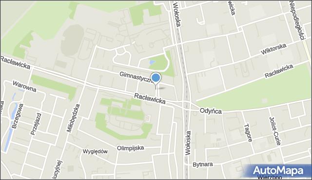 Warszawa, Maratońska, mapa Warszawy