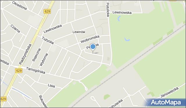 Warszawa, Malachitowa, mapa Warszawy