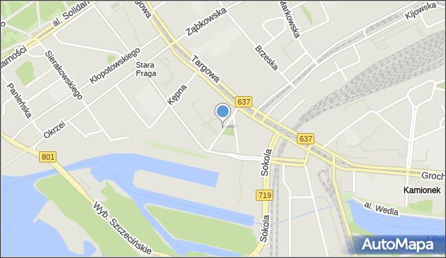 Warszawa, Marcinkowskiego Karola, mapa Warszawy