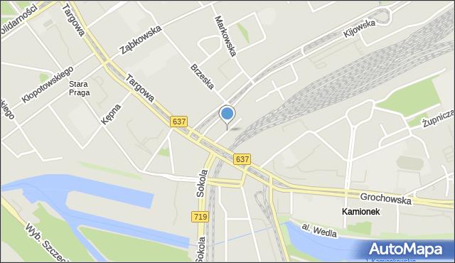 Warszawa, Mackiewicza Antoniego, mapa Warszawy