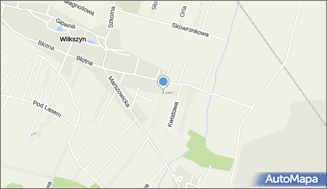Wilkszyn, Makowa, mapa Wilkszyn