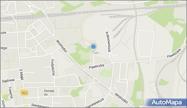 Zabrze, Majnusza Pawła, mapa Zabrza