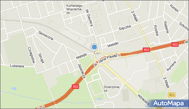 Zabrze, Matejki Jana, mapa Zabrza