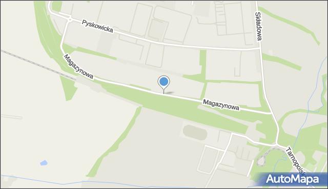 Zabrze, Magazynowa, mapa Zabrza