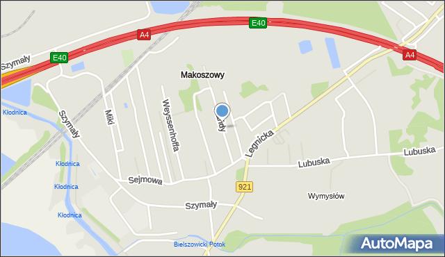 Zabrze, Mańdy Jakuba, ks., mapa Zabrza