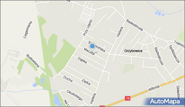 Zabrze, Maczka Stanisława, gen., mapa Zabrza