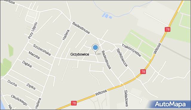 Zabrze, Mazowiecka, mapa Zabrza
