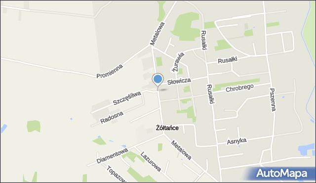 Chełm, Metalowa, mapa Chełma