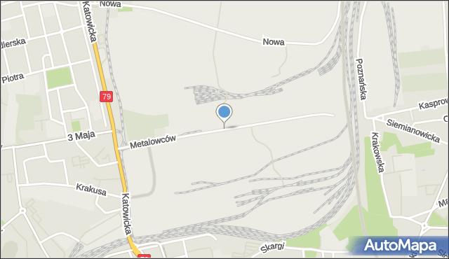 Chorzów, Metalowców, mapa Chorzów